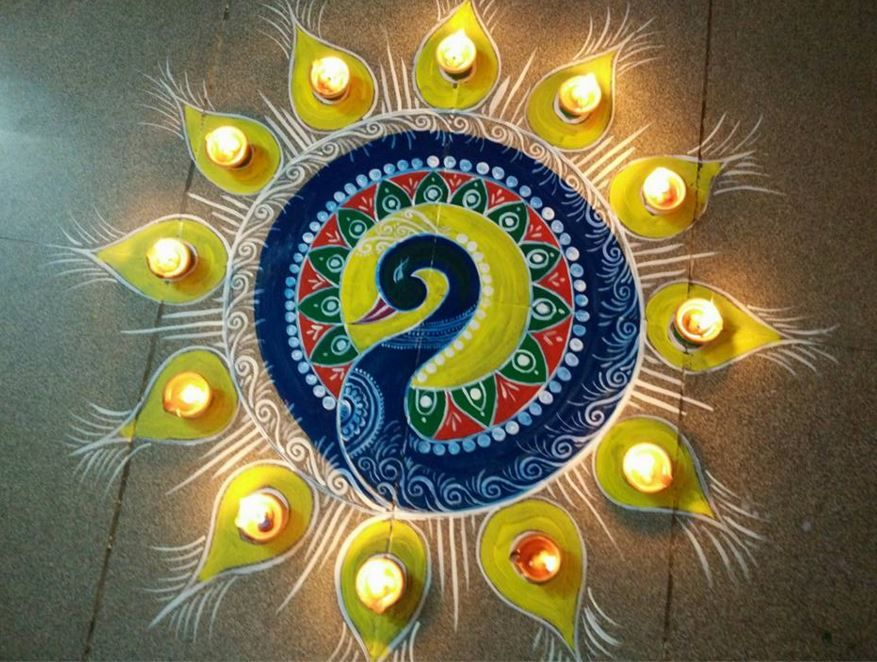 Rangoli designs for diwali 10