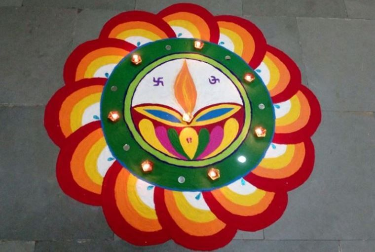 Rangoli designs for diwali 11