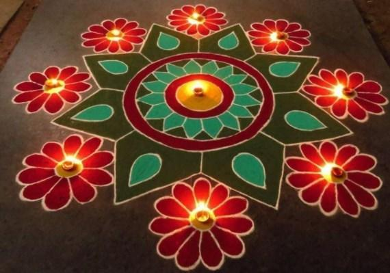Rangoli designs for diwali 12