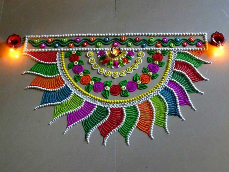 Rangoli designs for diwali 13