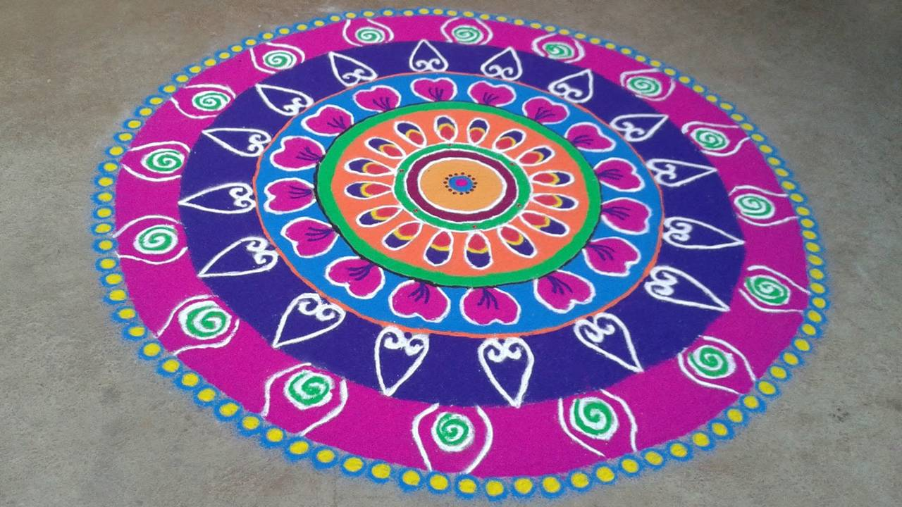Rangoli designs for diwali 15