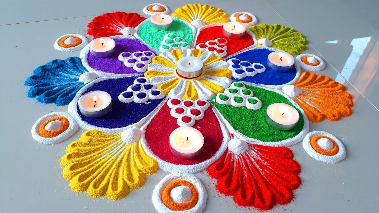 Rangoli designs for diwali 3