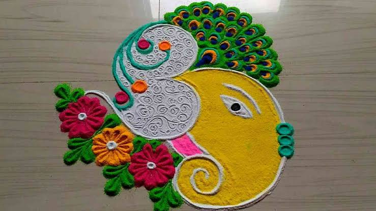 Rangoli designs for diwali 4