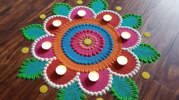 Rangoli designs for diwali 6