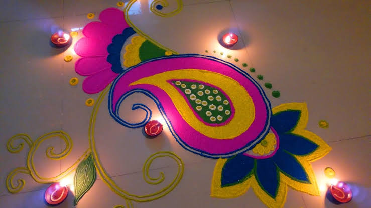Rangoli designs for diwali 8