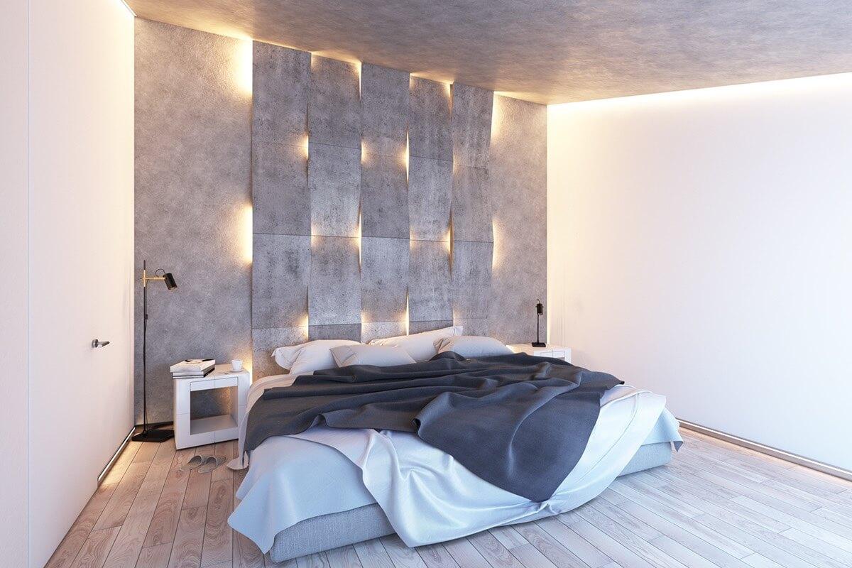 Small bedroom lighting designs 1