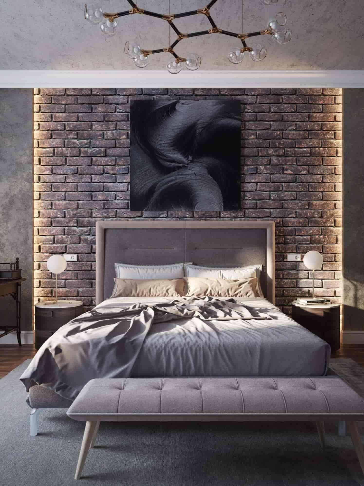 Small bedroom lighting designs 14