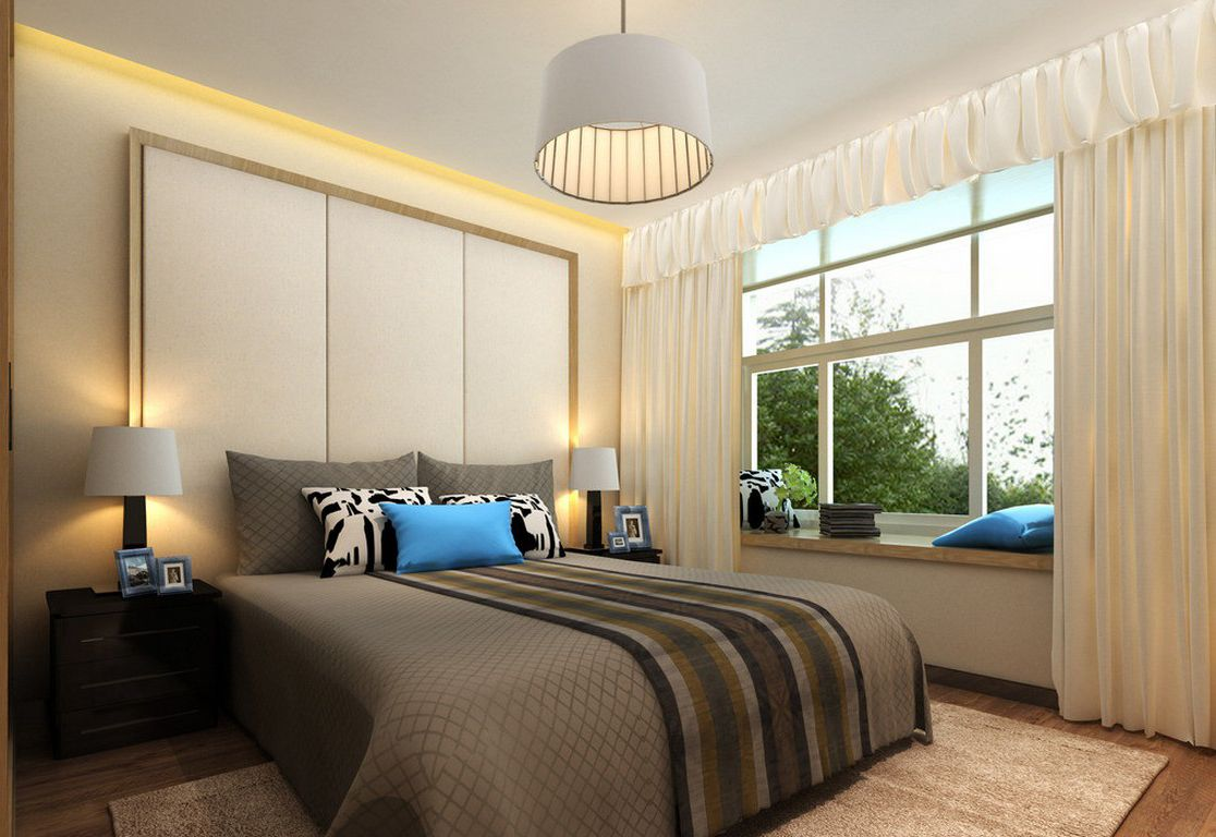 Small bedroom lighting designs 21