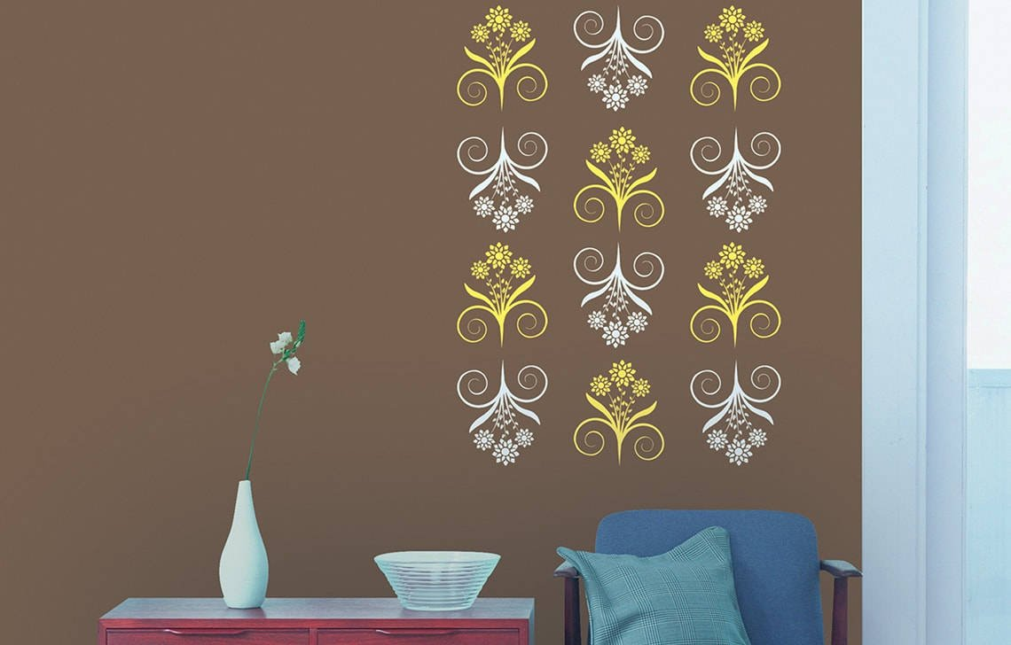 Stencil Wall Painting