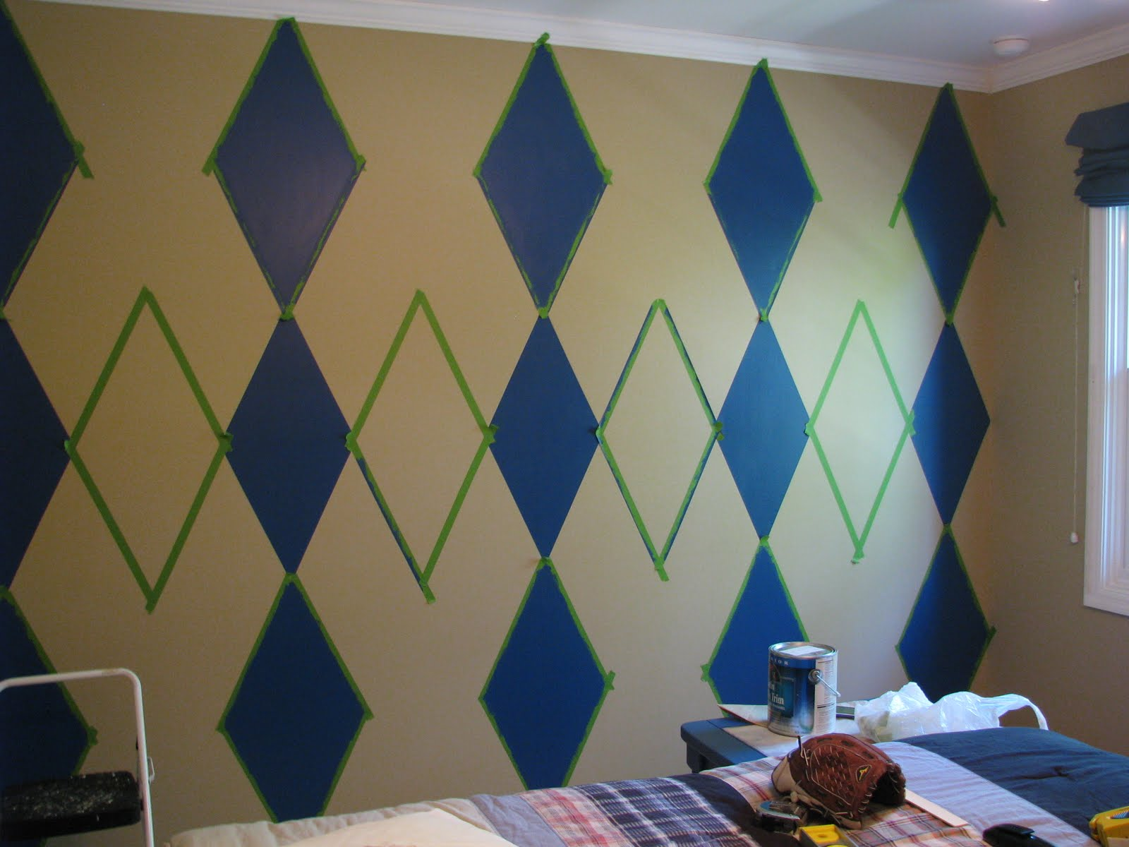 Stencil Wall Painting16