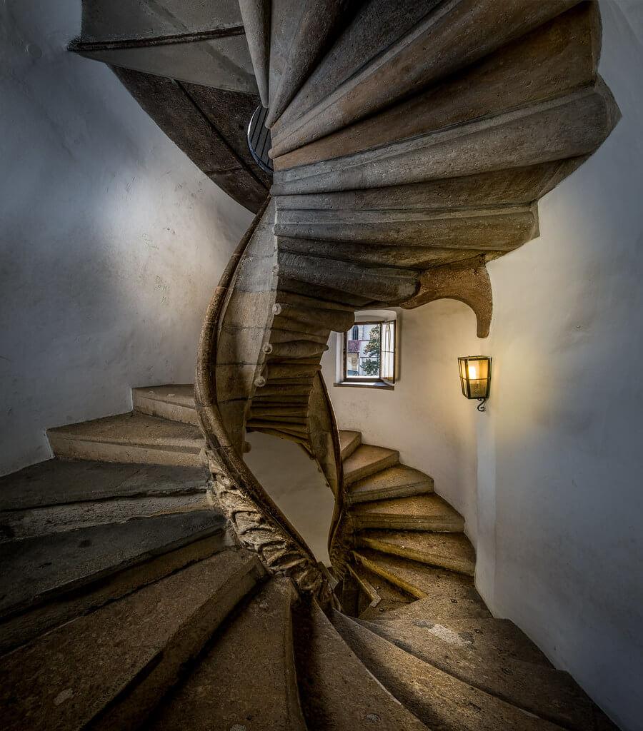 Double Spiral stairs in Graz, Austria