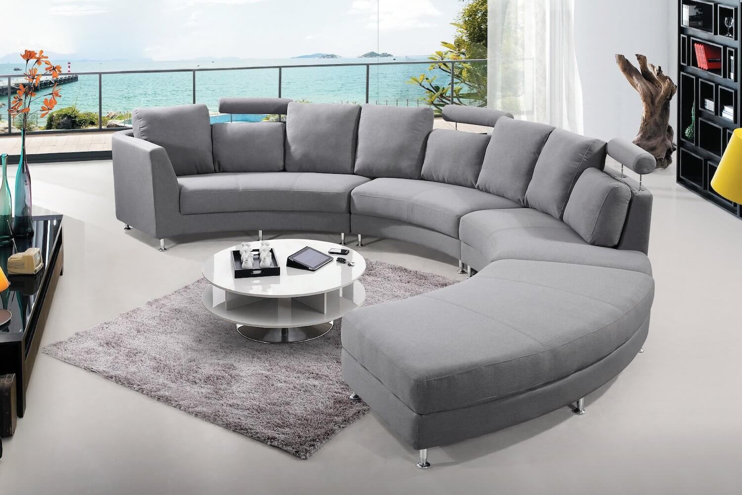 Contemporary Curved Sofa