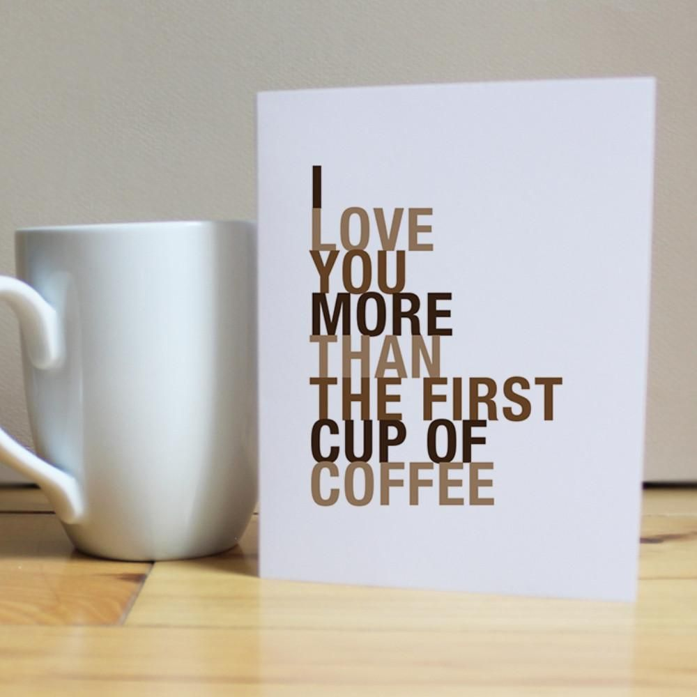 Personalized cups with a handmade greeting card