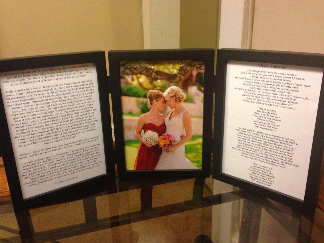 Their song framed