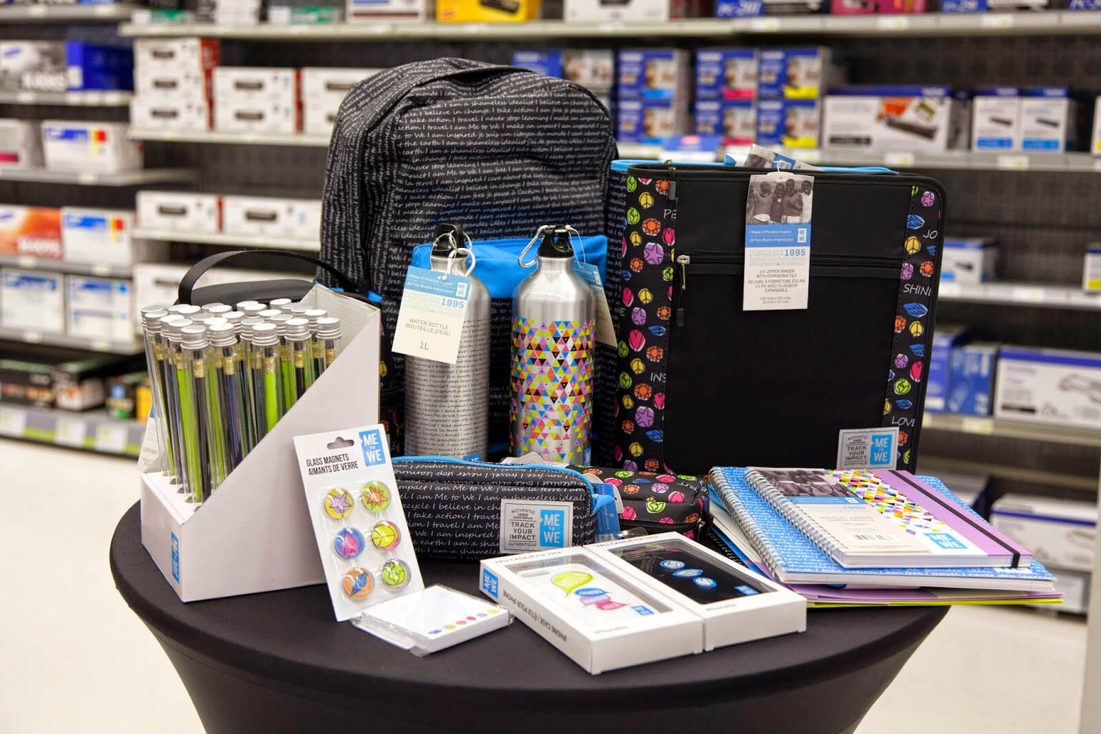 Discontinue regular school supplies with Eco-friendly items