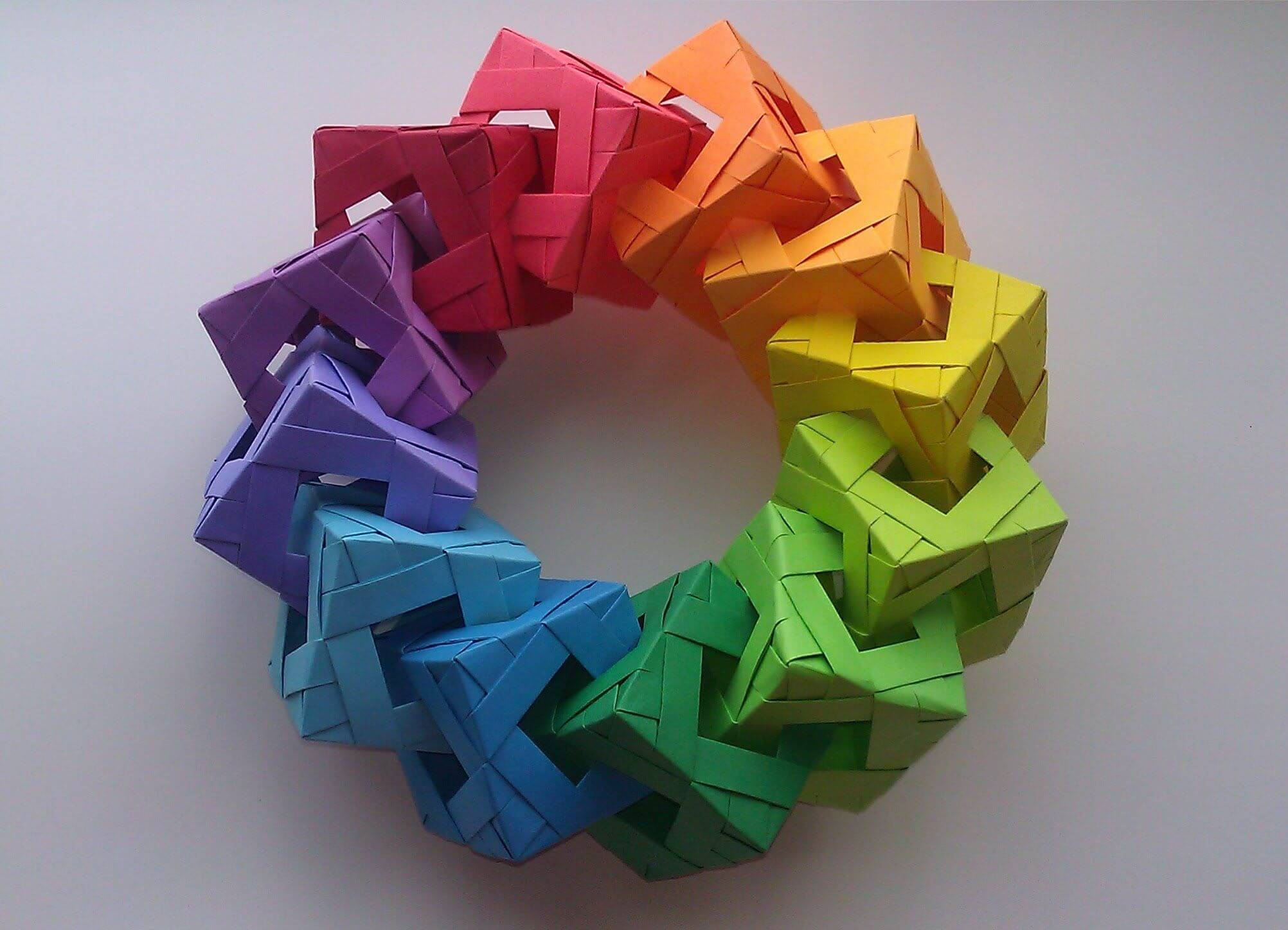 Rainbow Cube Ring
