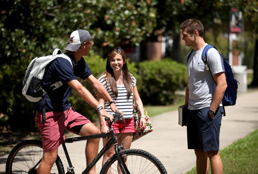 walking or cycling every day to your college