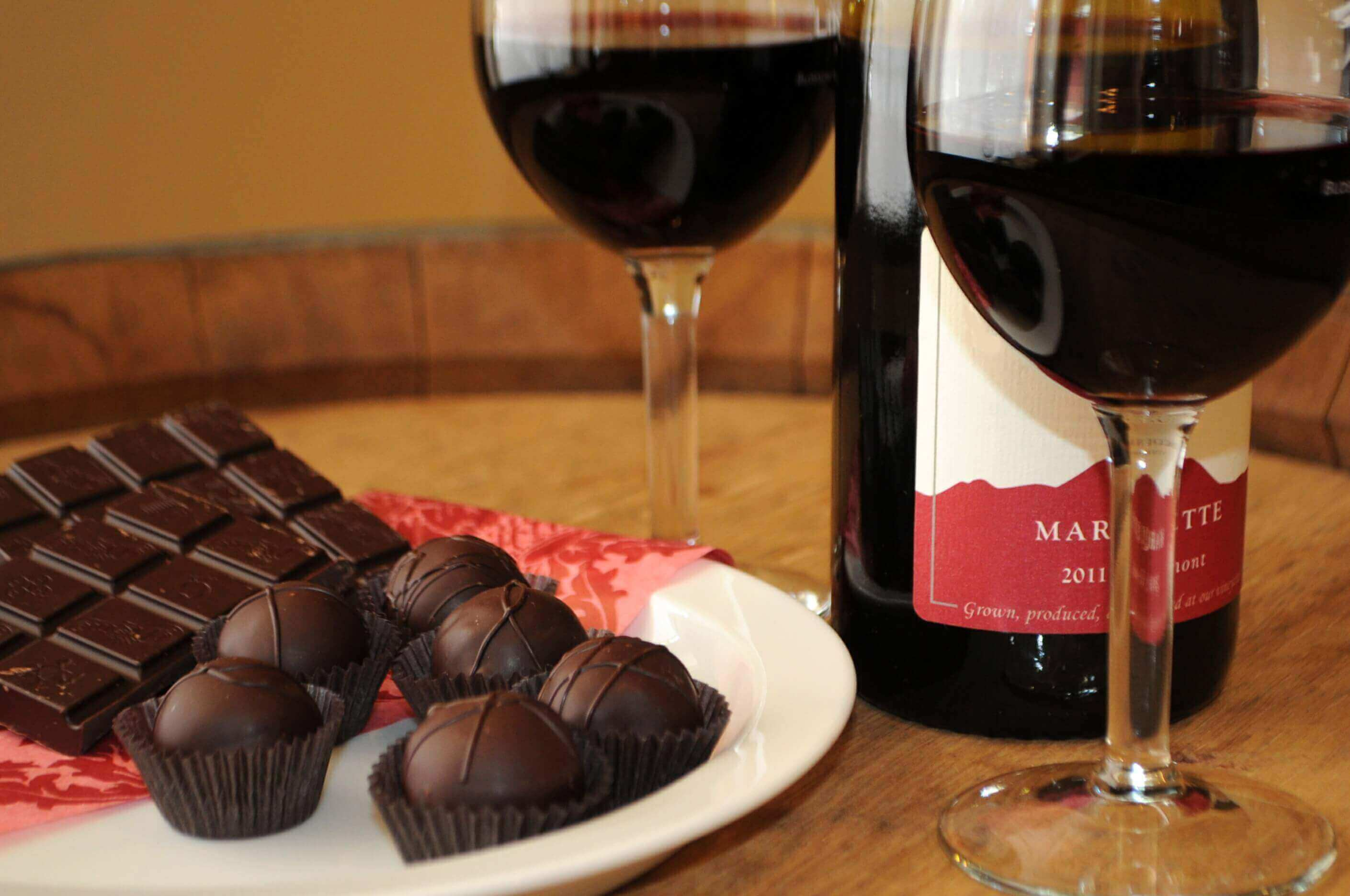 Enjoy a wine and chocolate tasting