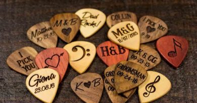 Personalized Wooden Engraved Guitar Picks