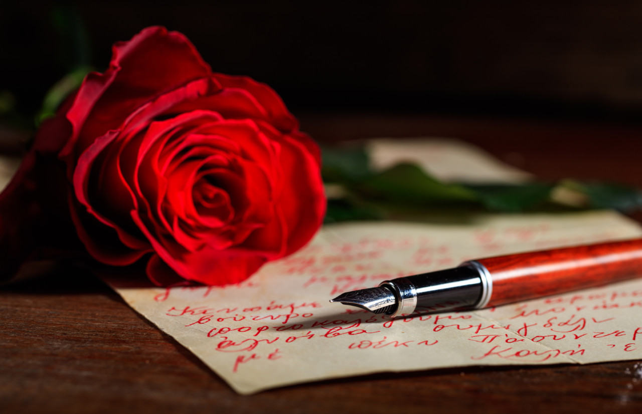 Write love letters to each other