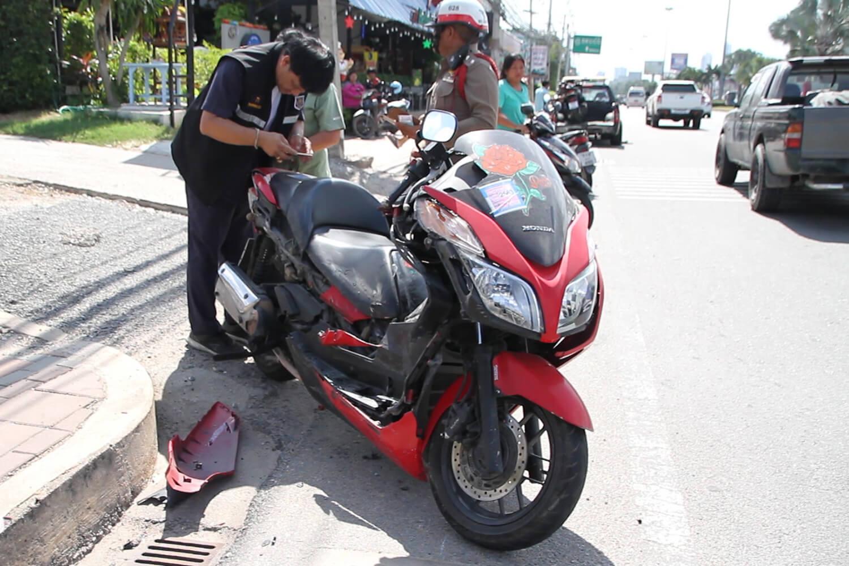motorcycle creash