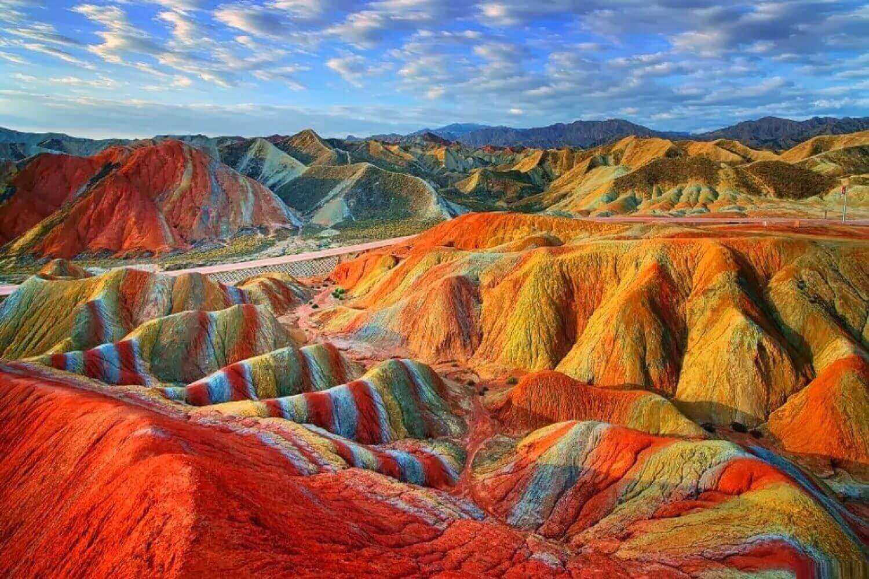 The Zhangye Rainbow Mountains