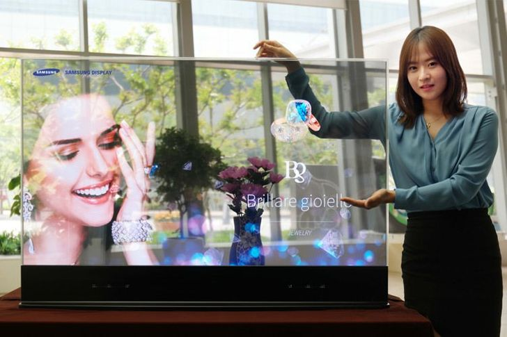 A transparent TV screen