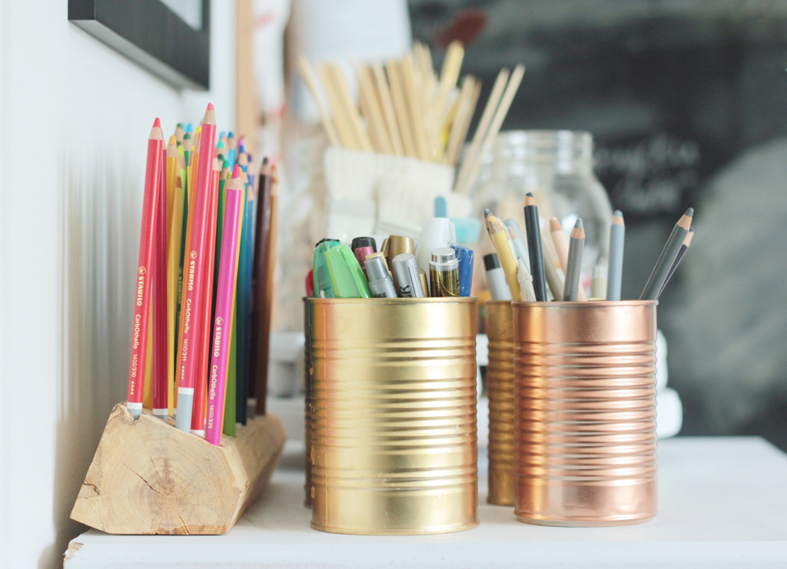 DIY Pencil Organizer
