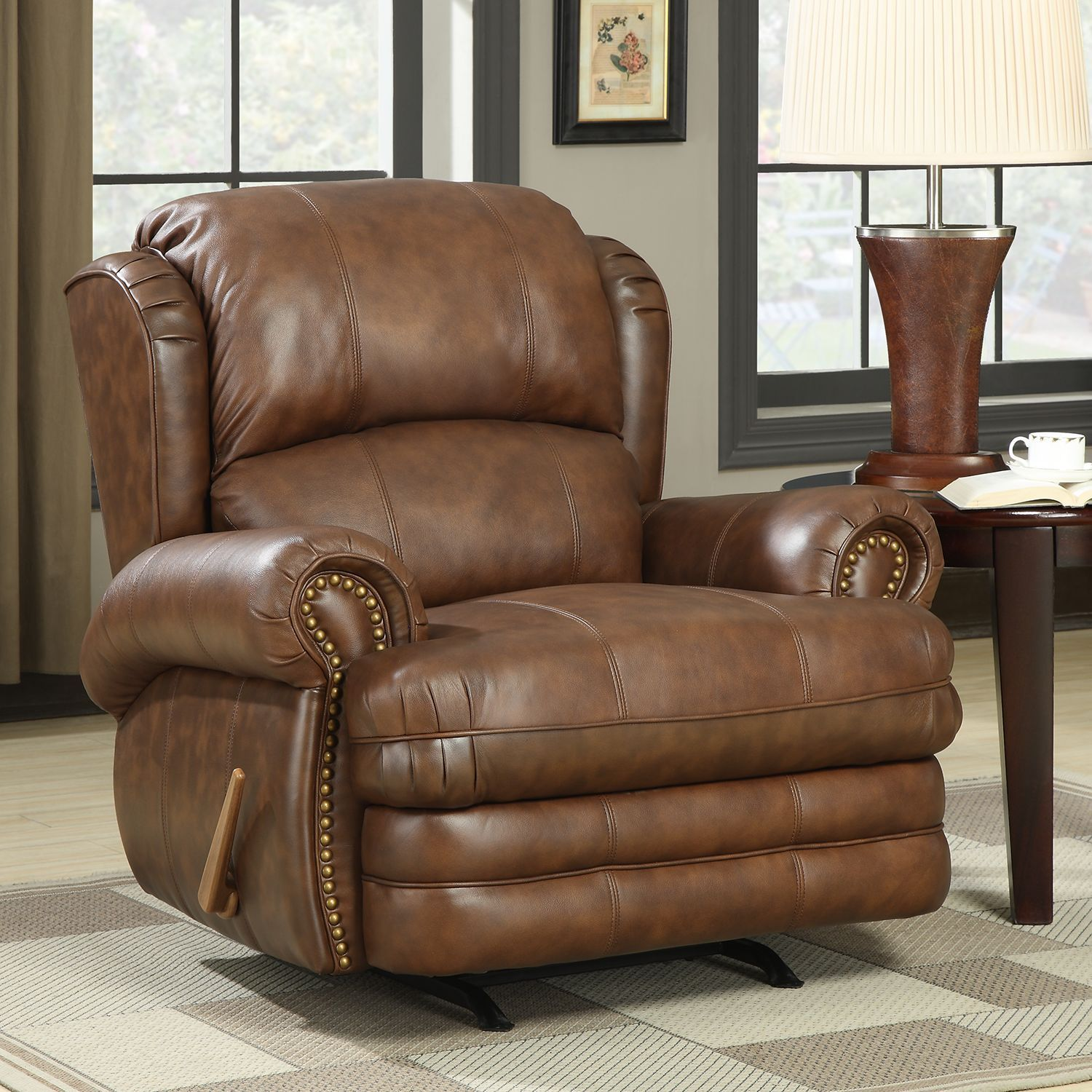 Rocking Leather Recliner