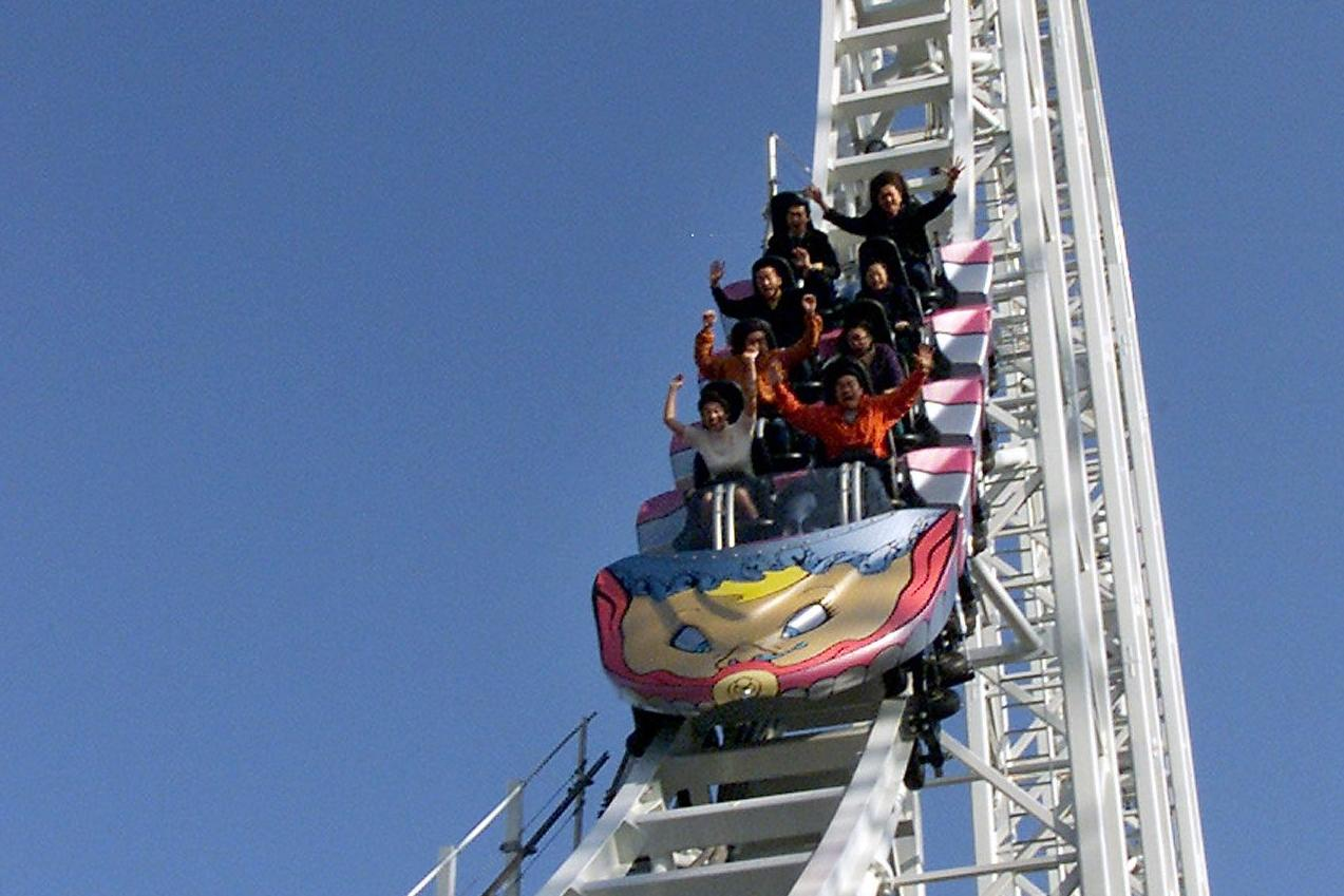 WORLD'S FASTEST ROLLER COASTER IS SUSPENDED