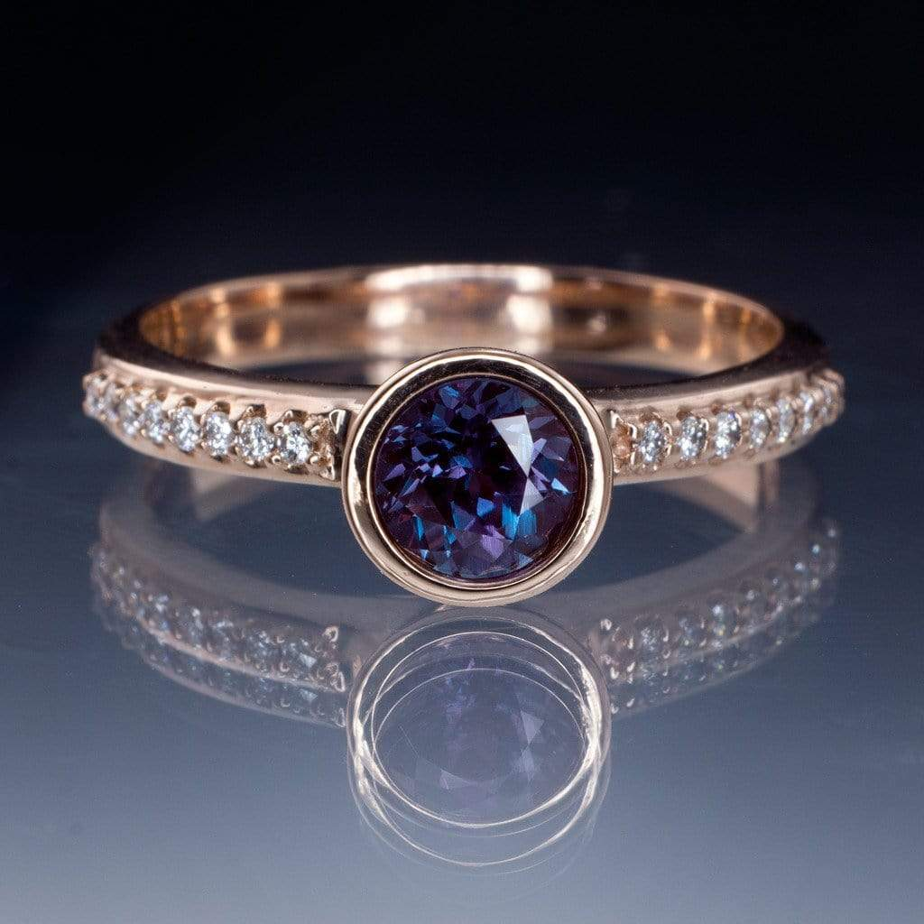 Alexandrite Engagement Ring