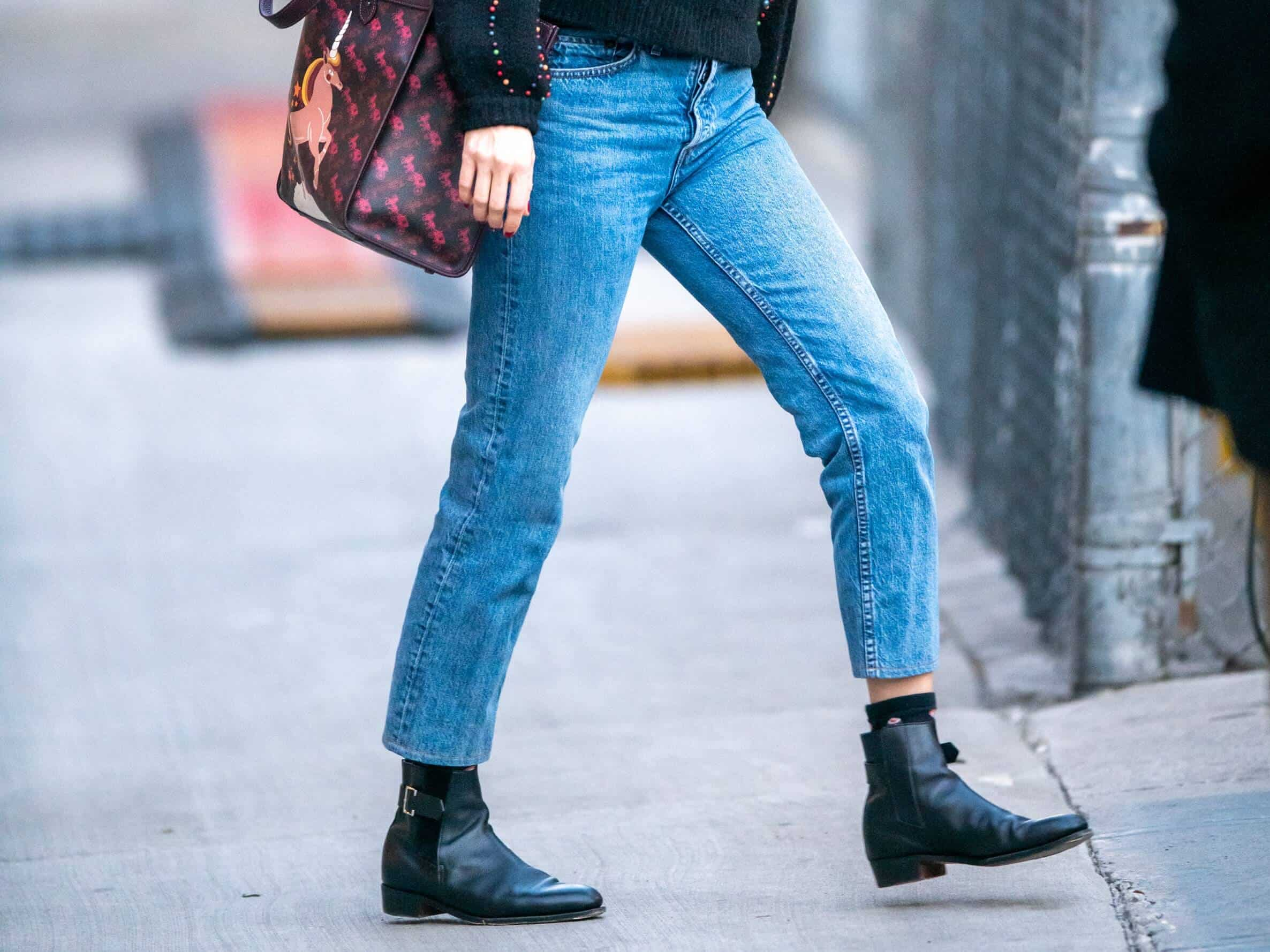 Boots under jeans