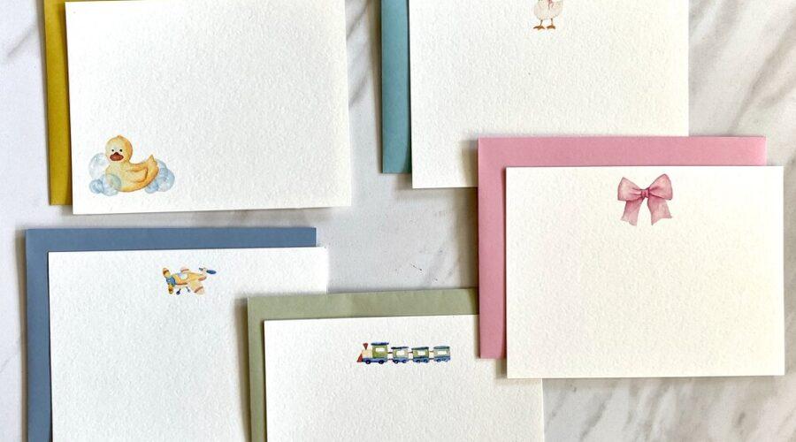 Personalize Plain Stationery