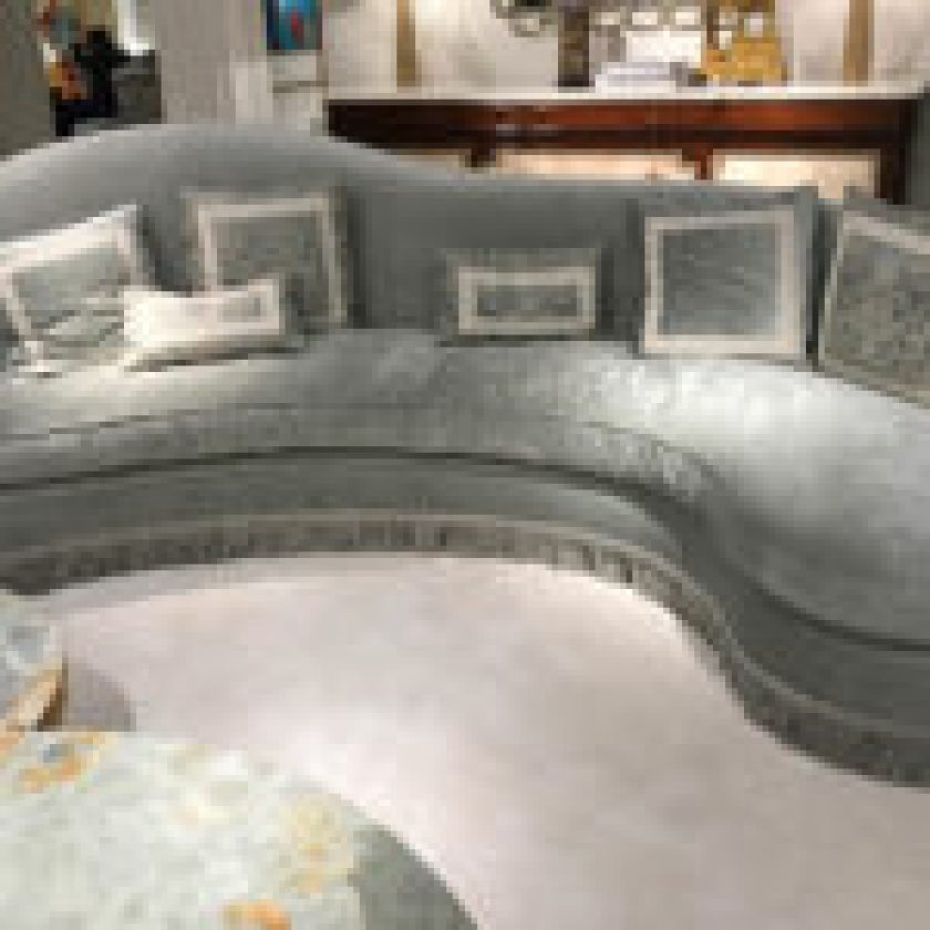 Contemporary Curved Sofa