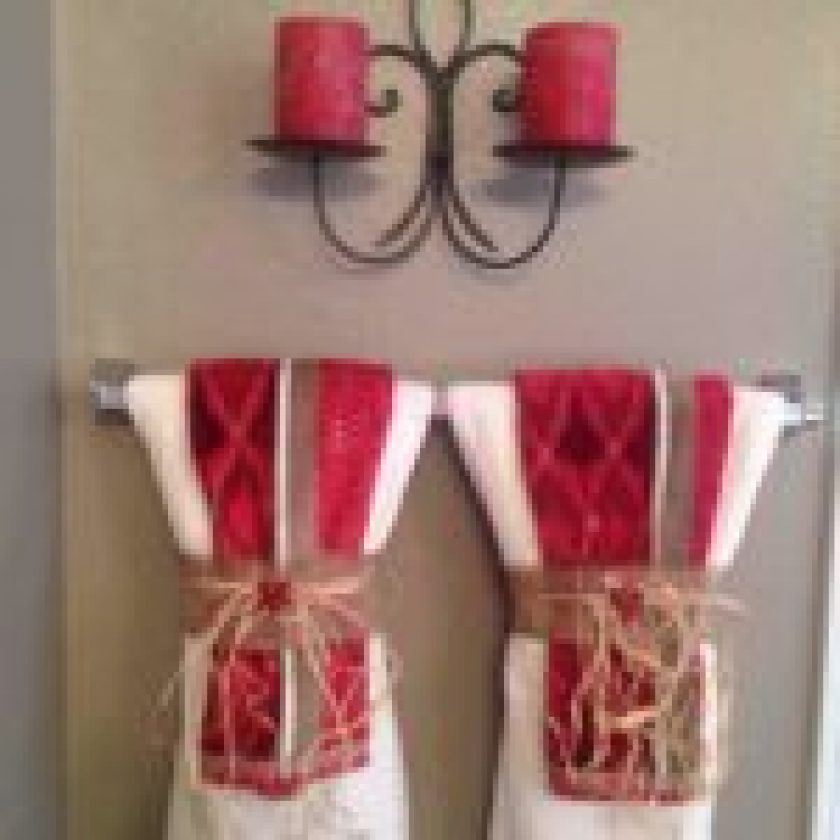 Bathroom Towel Decoration Ideas