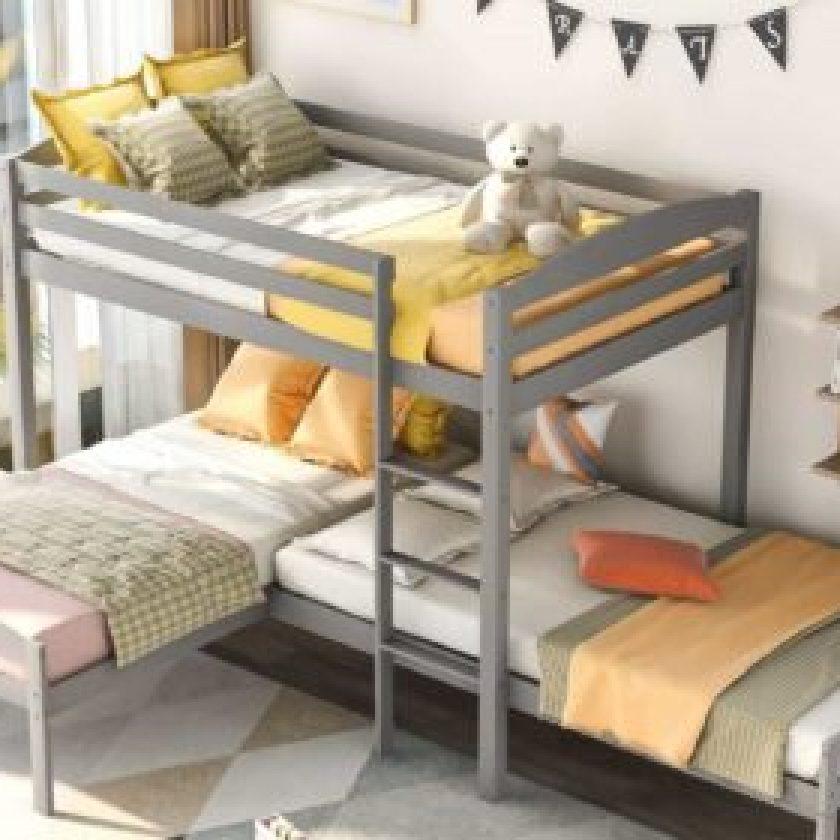 L-Shaped Bunk Beds