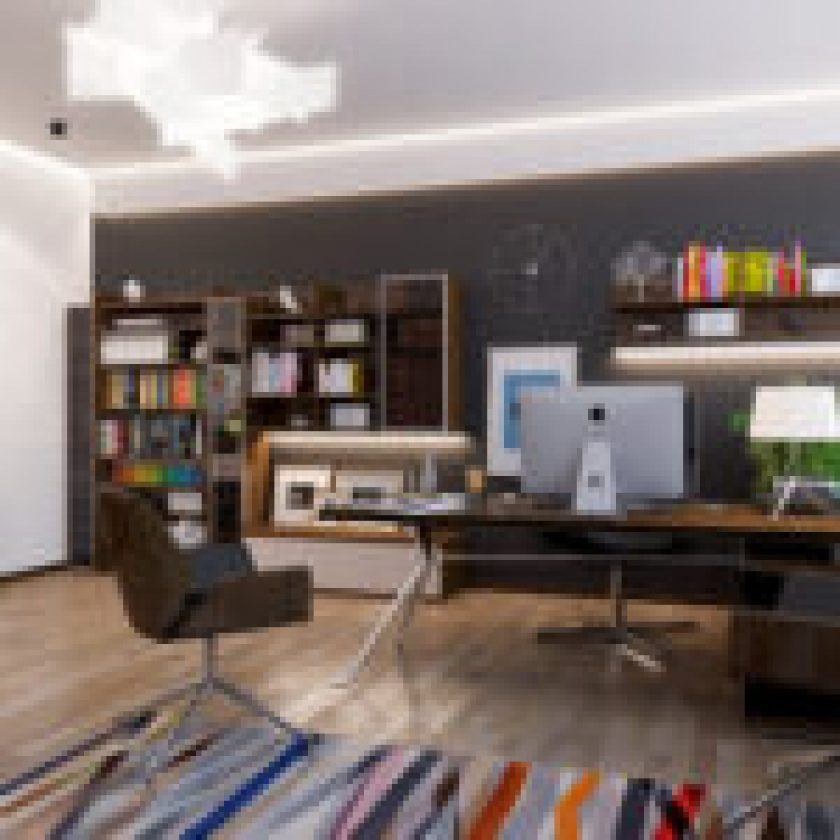 Make Your Home Office Do More with Custom Built Cabinetry!