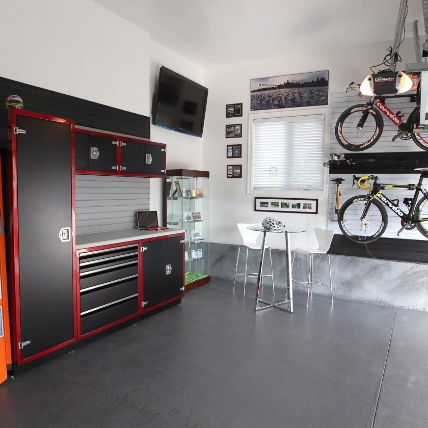 Redo the floor Garage Makeover