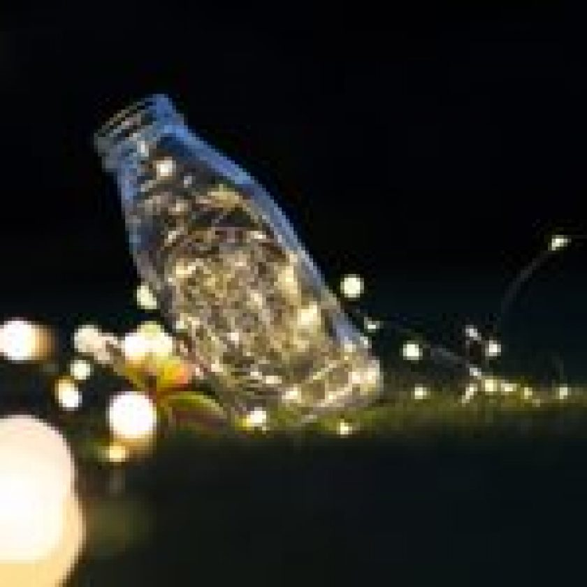 small LED in bottle