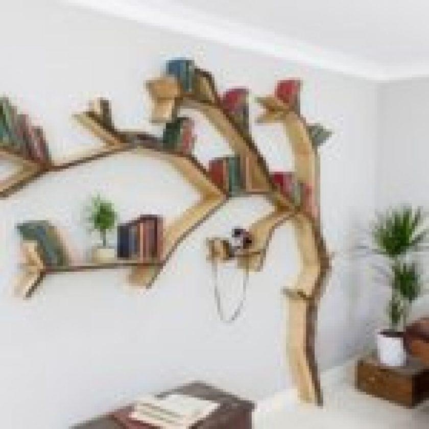 unique book shelf